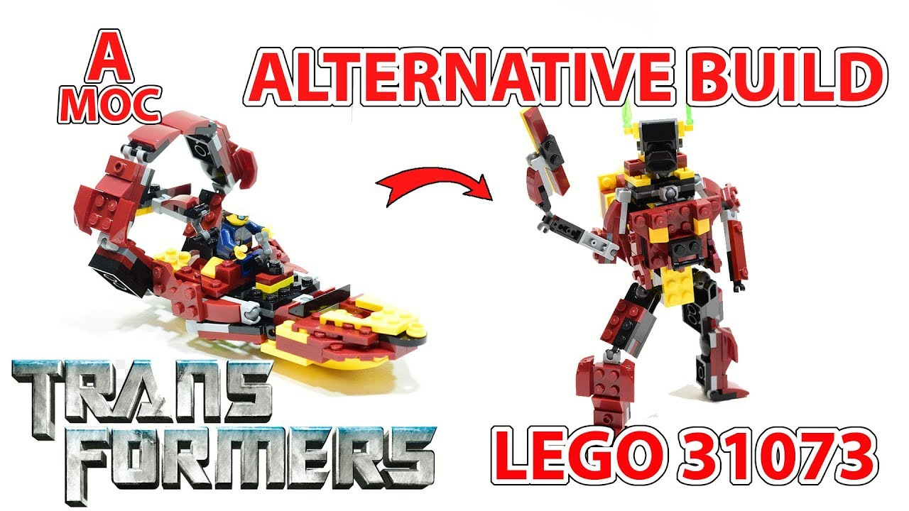 Airboat Transformer LEGO 31073 creator alternate build review [A MOC]