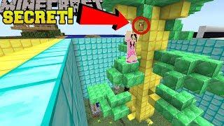 Minecraft: SECRET IN THE EMERALD TREE!!! - SUPER FURIOUS FIND THE BUTTON - Custom Map
