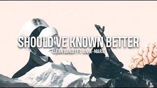 Should've Known Better    Clean Bandit ft. Anne-Marie    Traducida al español + Lyrics