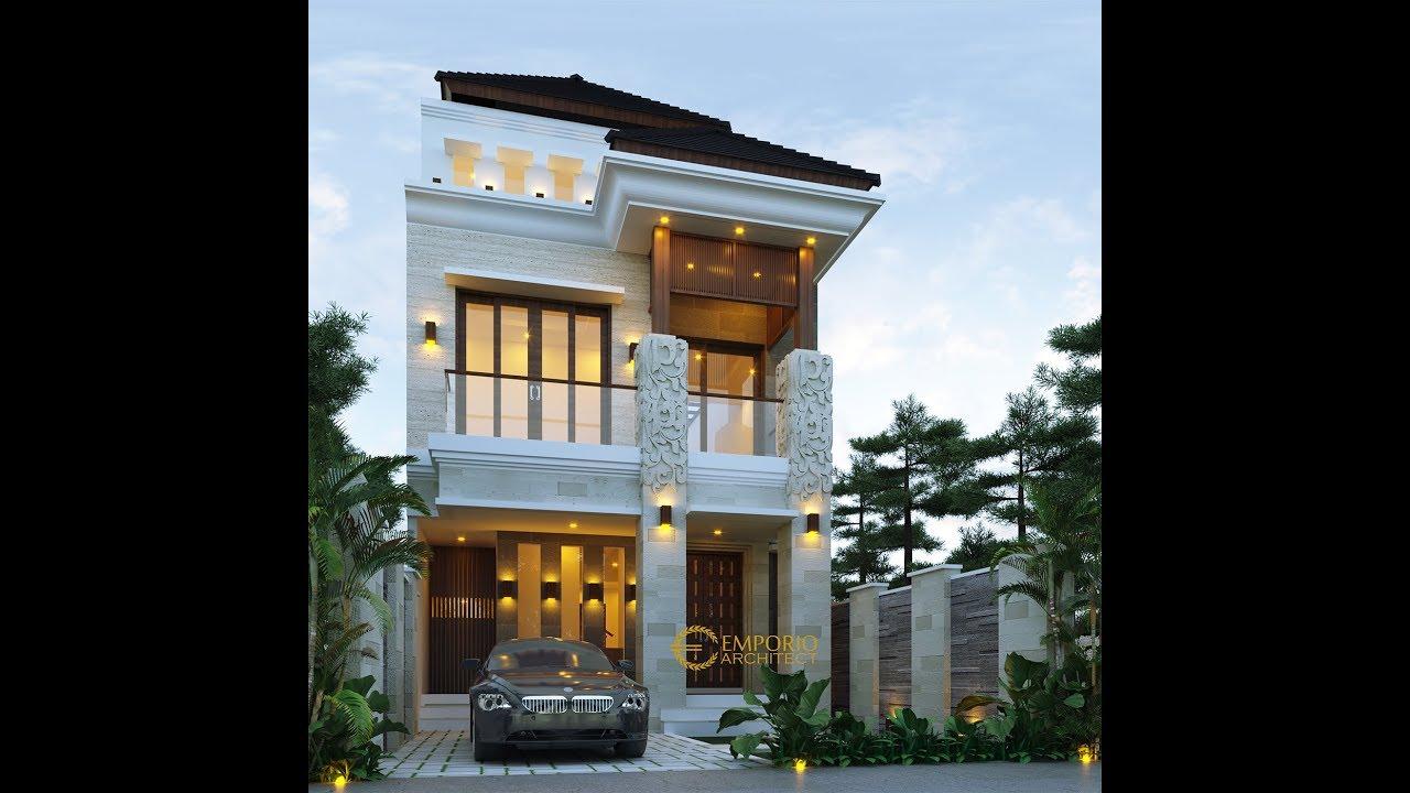Video 3D Desain Rumah Villa Bali 3 Lantai Bapak Naufal di Jakarta