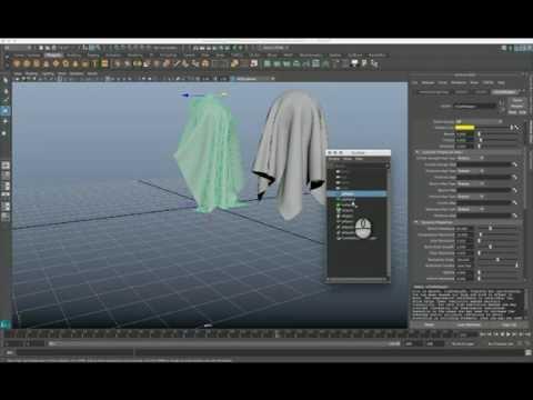 Autodesk Maya 2016 –  nCloth Basic Tutorial