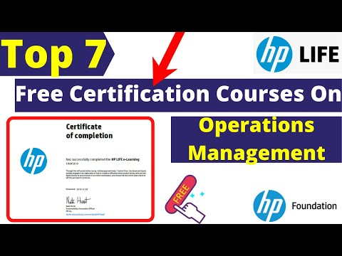 Best 7 Free Certification Courses On Operations Management By HP