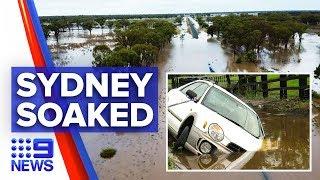 Sydney lashed with torrential rain floods winds | Nine News Australia