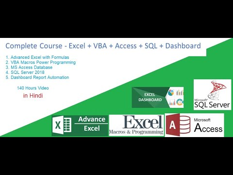 Complete Advanced Excel and VBA Classes in Hindi