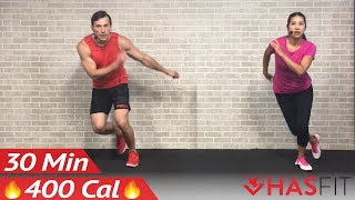 30 Minute HIIT Home Cardio Workout with no Equipment – High Intensity Cardio Routine by HASfit