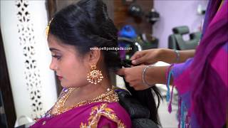 South Indian Bridal HairStyling And Poolajada