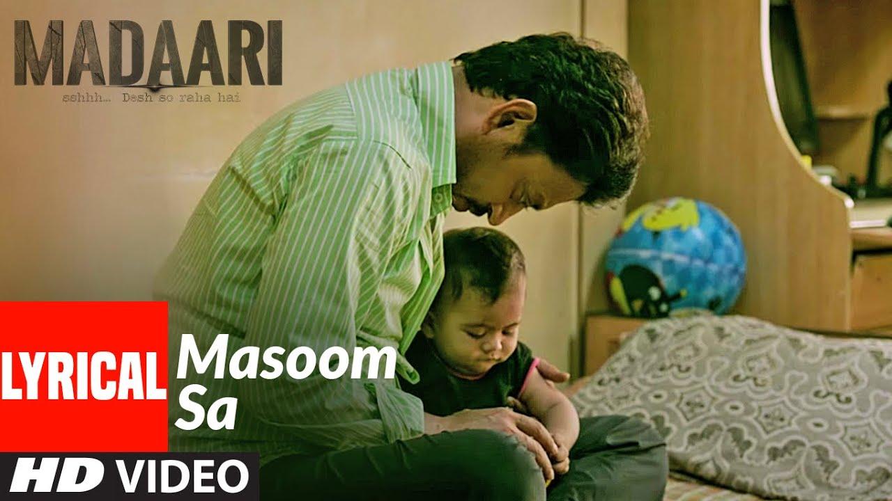 MASOOM SA Video Song Lyrics - SUKHWINDER SINGH Lyrics