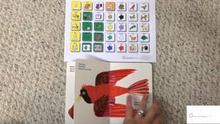 AAC Implementation Reading A Book With A Language Board