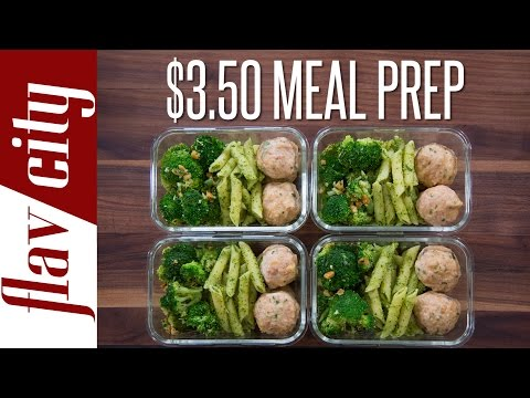 Video Meal Prep On A Budget - How To Budget Meal Prep ($3.50/meal)