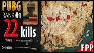 PUBG Rank 1 - chocoTaco 22 kills [NA] Solo FPP - PLAYERUNKNOWN