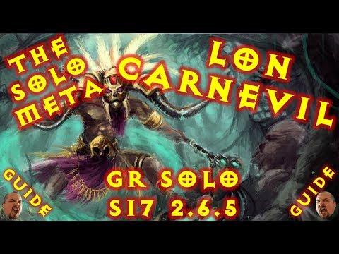 Diablo 3 S17 Rank 1 World Solo HC CarnEvil LoN Witch Doctor