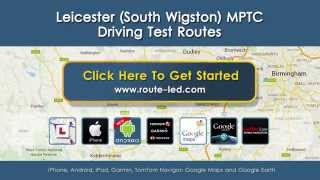 preview picture of video 'Leicester South Wigston Driving Test Routes'