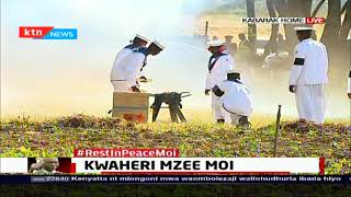 Former President Moi accorded a 19-gun-salute at burial ceremony
