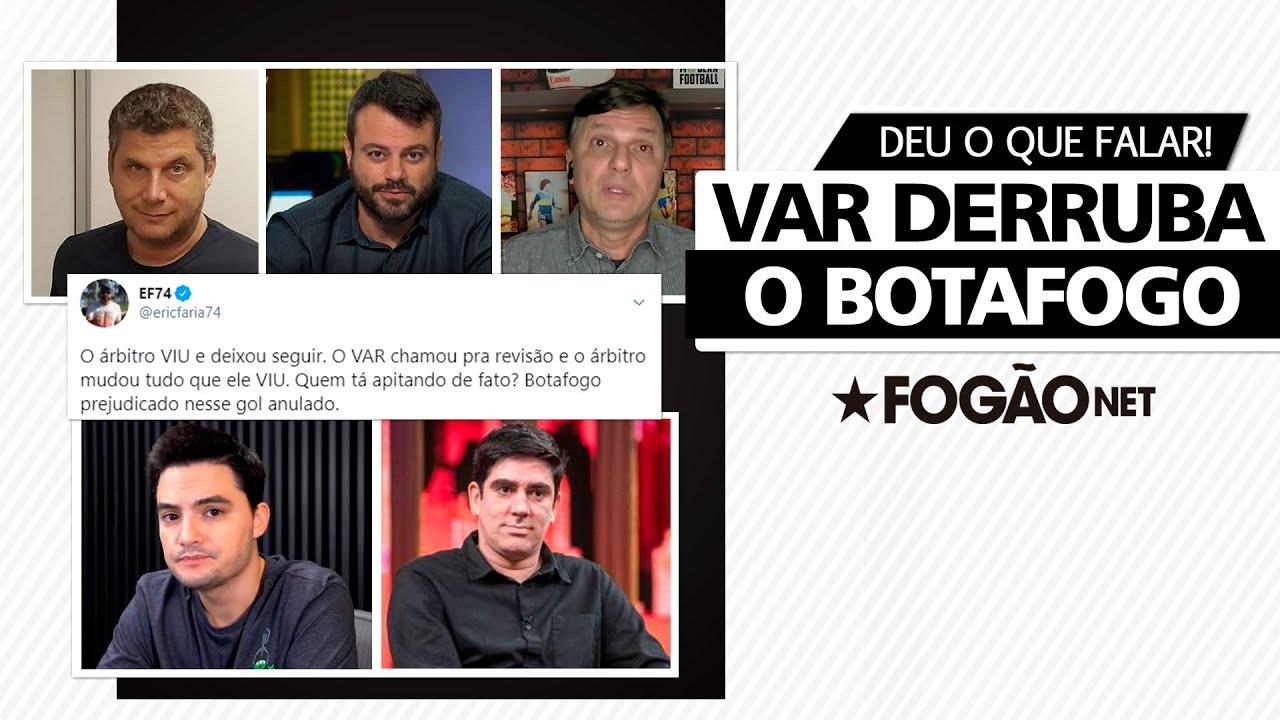 Gol do Botafogo anulado pelo VAR causa revolta na imprensa e em torcedores famosos. Veja vídeo com reações!