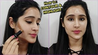 How to Do CONTOURING AND HIGHLIGHT- 1 SIMPLE TRICK