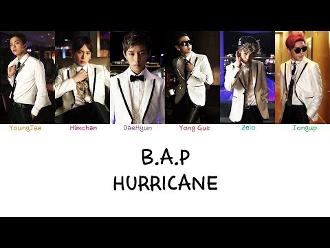 B.A.P - Hurricane (Color coded lyrics Han|Rom|Eng)