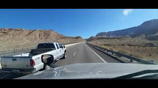 BigRigTravels Premiere Interstate 15 Northbound through Virgin River Gorge in Arizona 2/10/21