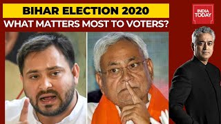 Sushant, Caste, Covid Or Vikas; What Matters Most To The Bihar Voters? | News Today With Rajdeep - Download this Video in MP3, M4A, WEBM, MP4, 3GP