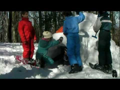 comment construire un igloo avec de la neige