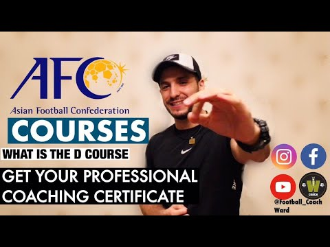 HOW TO BECOME A CERTIFIED SOCCER COACH- AFC COACHING COURSES!!!
