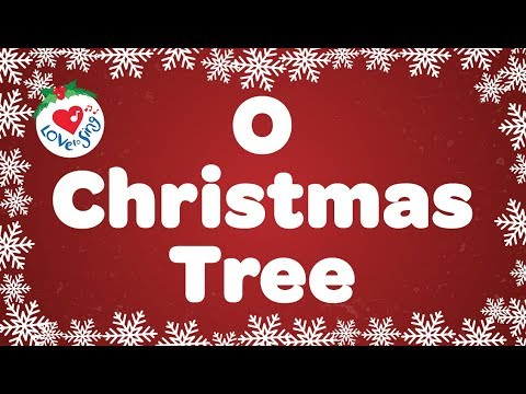 O christmas tree with lyrics   christmas songs   carol   love to sing