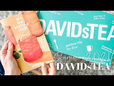 DAVIDsTEA Tasting Club Unboxing Summer 2021