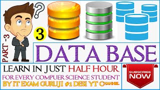 DataBase Management System (DBMS) - dbms Tutorial FOR IBPS IT OFFICER EXAM LECTURE 3