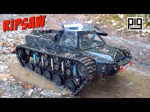 """WORLD'S MOST DESIRED """"RIPSAW"""" EV1 1/10th SCALE LUXURY SUPER TANK GETS DIRTY!   RC ADVENTURES"""