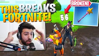This GLITCHED Pickaxe Does *56 DAMAGE* (SO BROKEN) - Fortnite Battle Royale