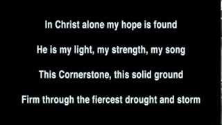 Full backing track to In Christ Alone by Stuart Townend and Keith Getty