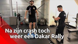 Motorcoureur Harmsen gaat ondanks crash weer Dakar Rally .