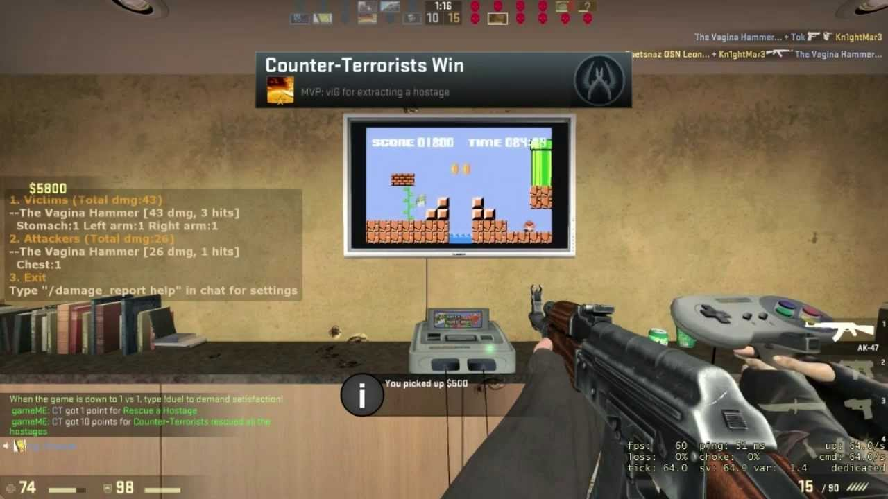 Someone's Got A NES (Sort Of) Working Inside Counter-Strike