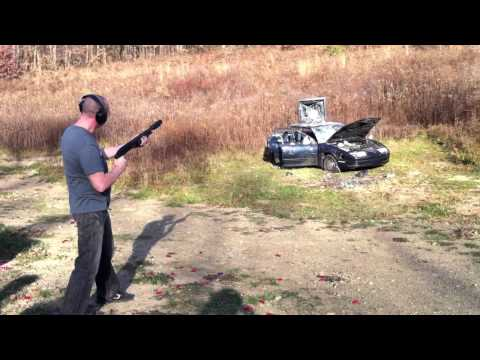 Saturn Car Shoot Up with AK-47