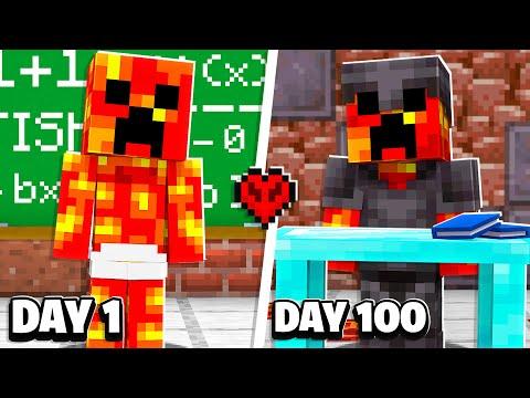 I Made Baby Preston Survive 100 Days in Hardcore Minecraft School!