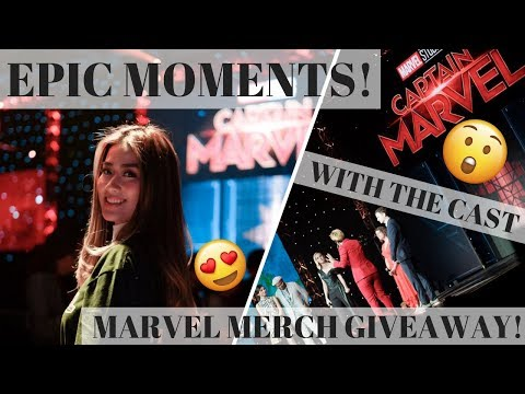 MET THE CAPTAIN MARVEL CAST, STAYED AT MARINA BAY SANDS SINGAPORE + MARVEL MERCH GIVEAWAY!
