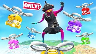 GET LOOT from SUPPLY DRONES *ONLY*! in Ranked Fortnite!