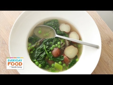 Spring Vegetable Soup – Everyday Food with Sarah Carey