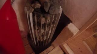 Супер печь для Русской бани Grill'D Cometa Vega  в обычной деревенской бане.