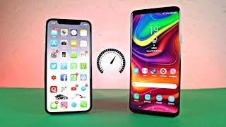 iPhone X iOS 11.3 vs Samsung Galaxy S9 Plus Android 8.0 Oreo - Speed Test!