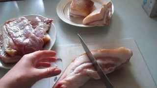 Как засолить сало для копчения. How to pickle bacon for smoking.