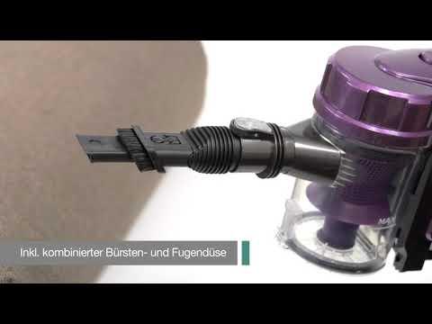 Aspirador escoba a batería sin bolsa color lila Clatronic