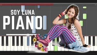 Soy Luna I'd Be Crazy piano midi tutorial sheet partitura cover how to play  karaoke remix