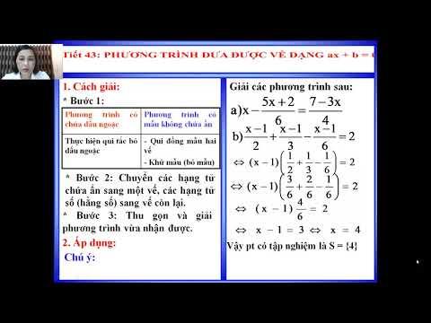 Toán 8: Phương trình đưa về dạng ax+b=0