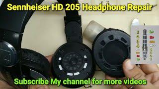 Sennheiser HD 205 Headphone Repair One Side Not Working Solved