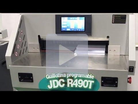 JDC R490T  Guillotina programable de 490mm y pantalla táctil