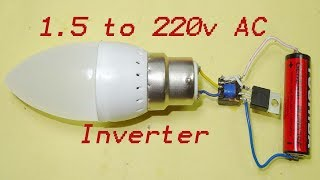 Download Video 1.5 volts to 220 AC inverter  with only two components MP3 3GP MP4