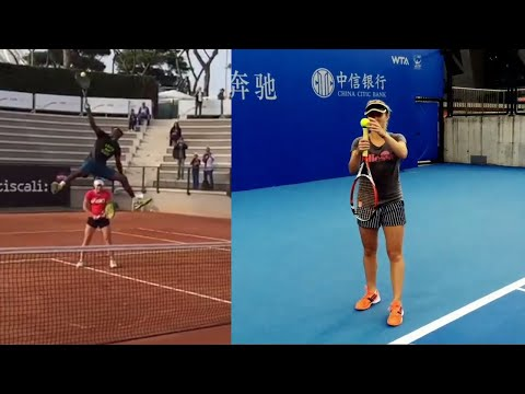 """Tennis """"MAGIC"""" Moments in Training If Were Not Filmed NOBODY Would Believe"""