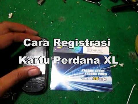 Video Cara Registrasi / Aktivasi Kartu XL