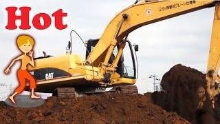 はたらくくるま ショベルカー |工事現場の風景|キャタピラーCAT320D Excavator