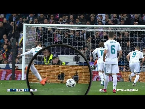 Cristiano Ronaldo scores Mysterious penalty on the volley against PSG (Slow motion video)